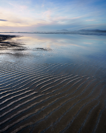 Harlech Beach reflections.